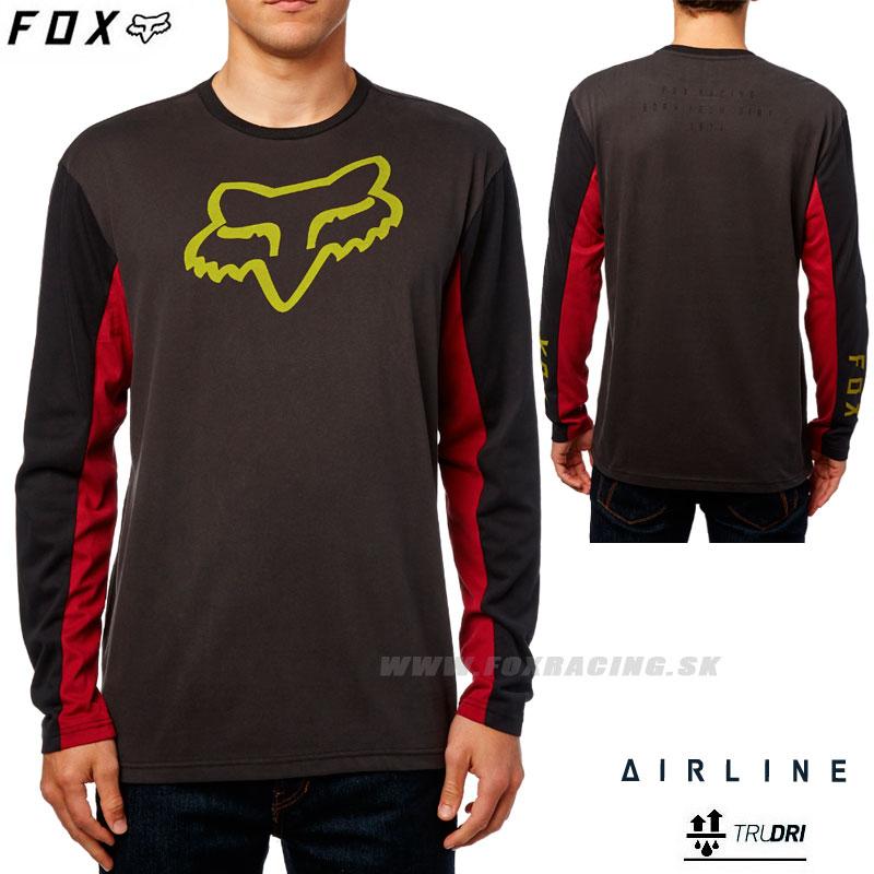 8239729abe FOX tričko Tracker L S Airline - Oblečenie