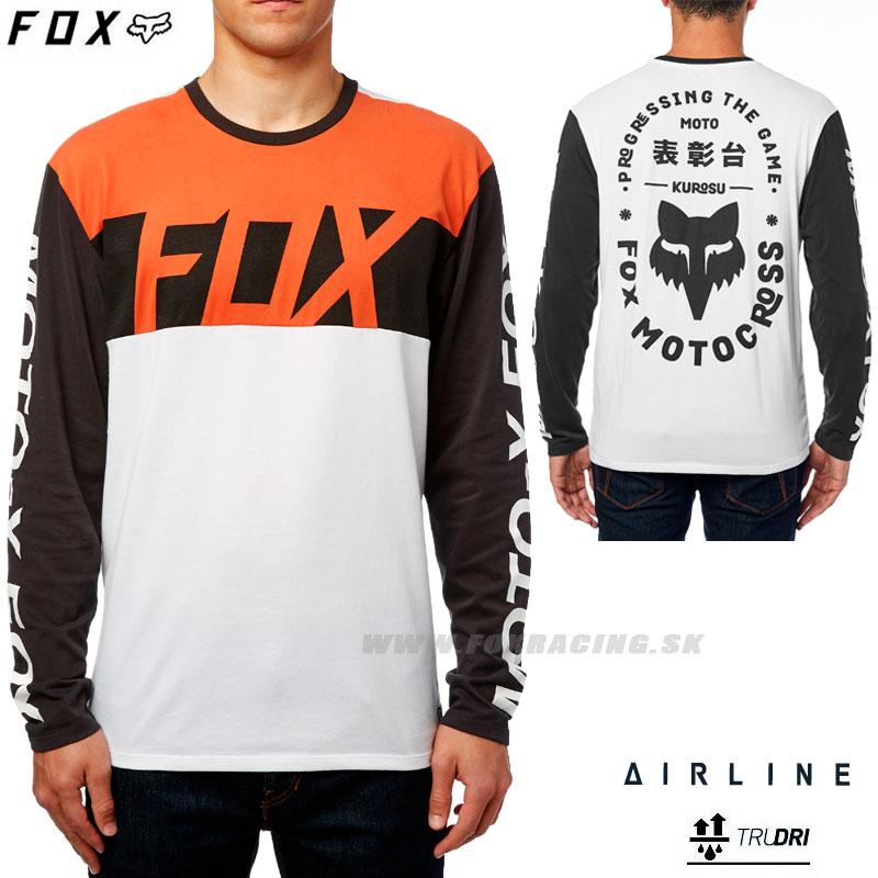 34c288023b FOX tričko Scramblur L S Airline - Oblečenie