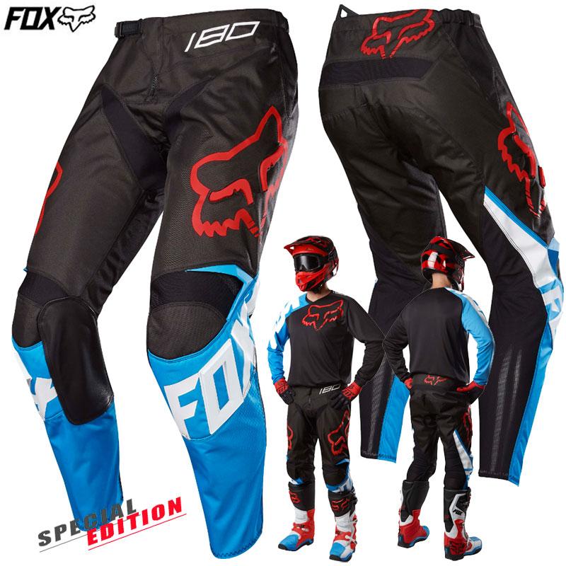 7e9591ac89129 Moto oblečenie - Nohavice, Fox nohavice 180 Sabbath SE pant, čierno modrá