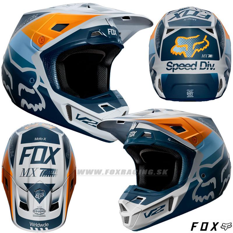 98ef55cfe2bf3 FOX prilba V2 Murc helmet ECE - Moto oblečenie, Helmy, Mx/enduro ...