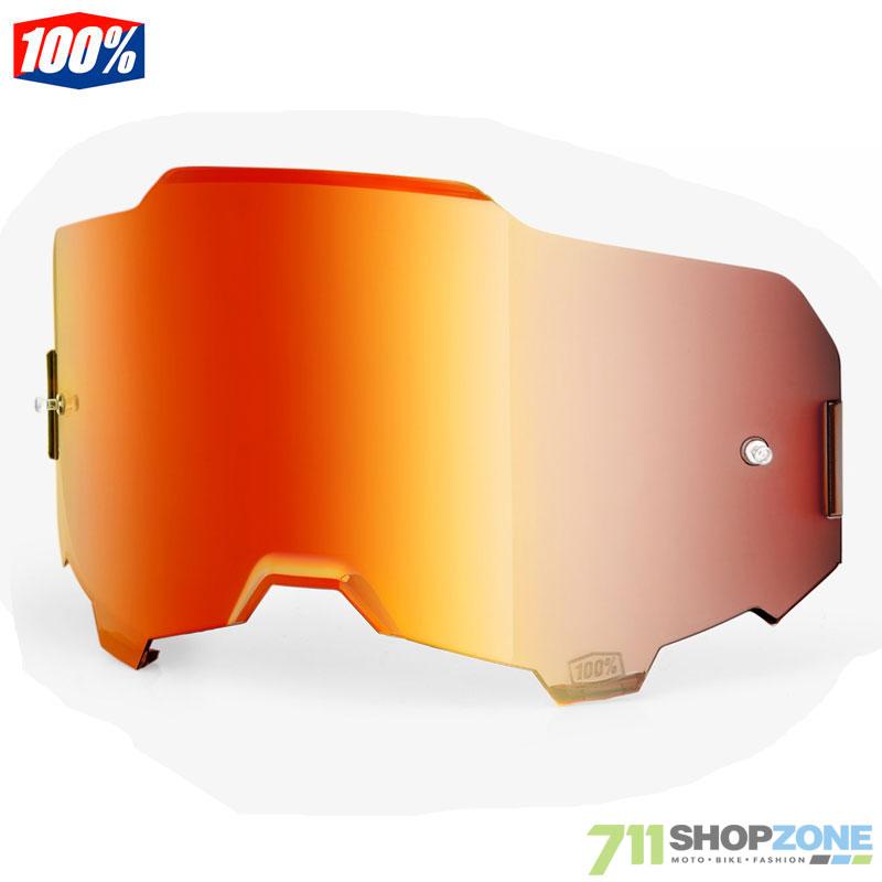 b2db93160 Moto oblečenie - Okuliare, 100% Armega Ultra HD náhradné sklo red mirror