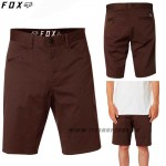 FOX šortky Stretch Chino short, hnedá