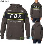 FOX mikina Official Pullover fleece, tm. šedá