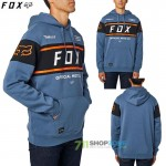FOX mikina Official Pullover fleece, šedo modrá