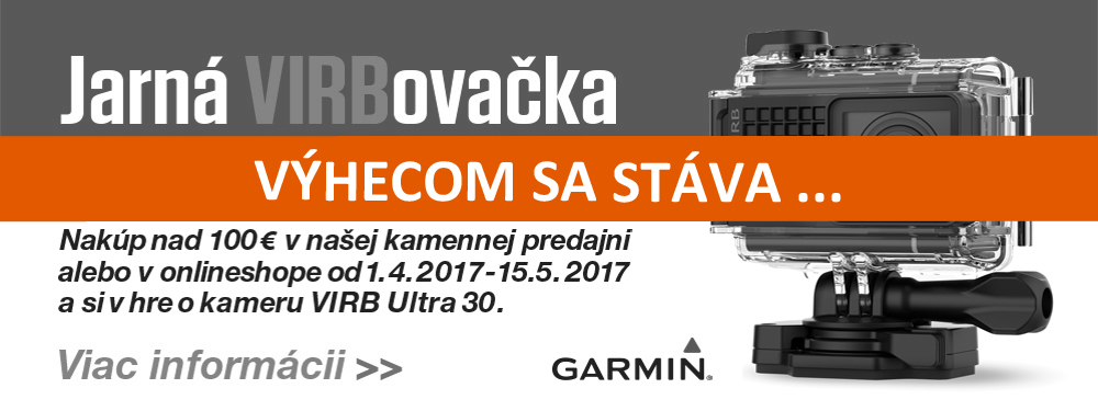 Vyhrajte špičkovú akčnú kameru Garmin VIRB Ultra 30